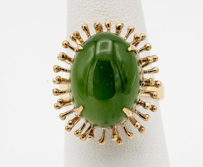 18k Yellow Gold Jade Ring