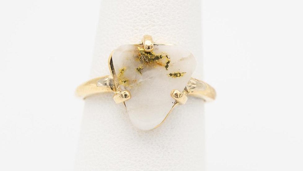 14k White Gold Ore Ring