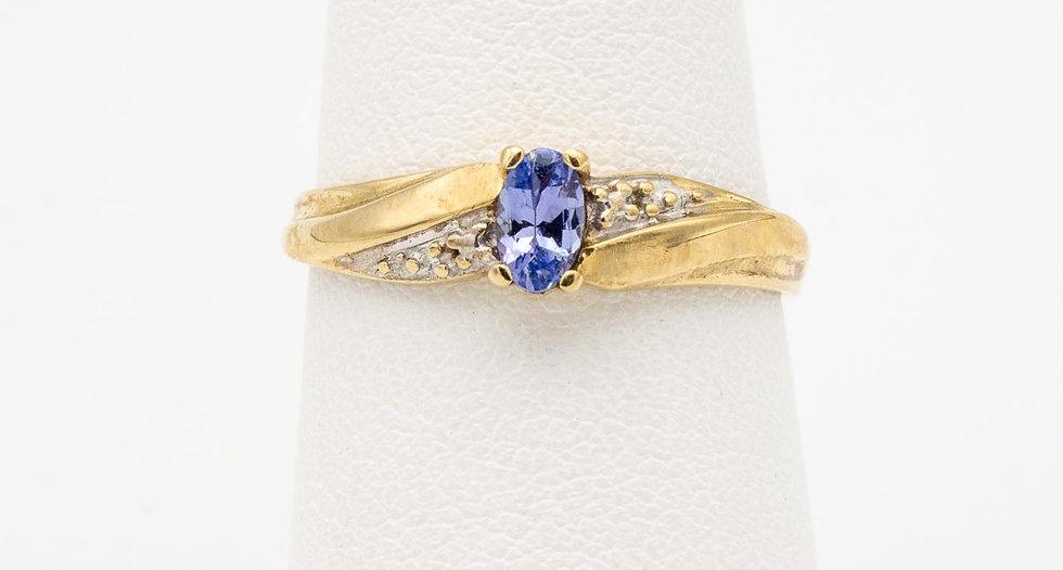 10k Yellow & White Gold Tanzanite Lady's Ring