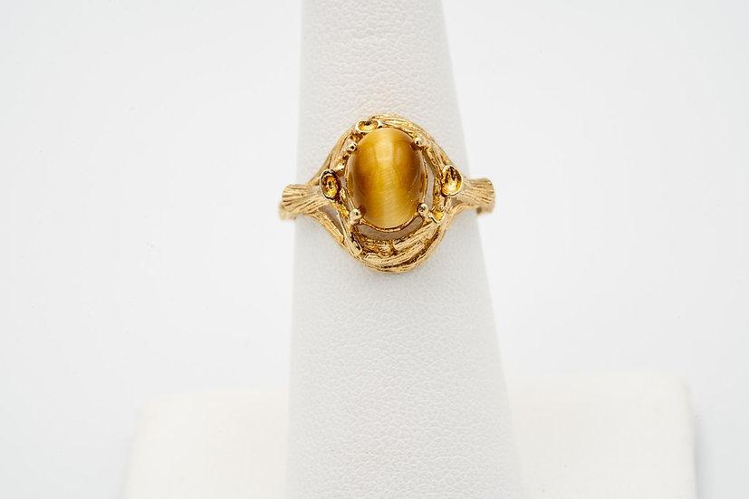 10k Yellow Gold Tiger's eye Ring