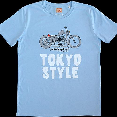 """TEE """"TOKYO STYLE"""" light blue"""