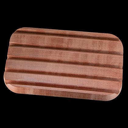 Seifenablage aus Birnbaumholz gerundet rotbraun
