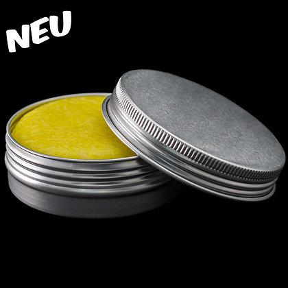 Seifenkästchen rund aus Metall silber
