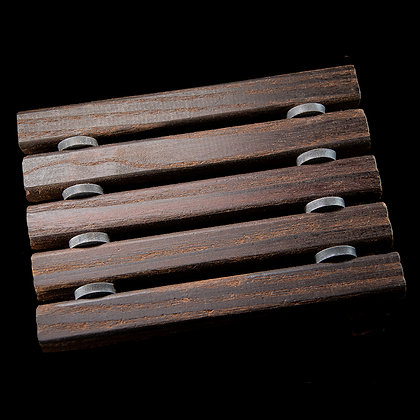 Seifenablage mit geölten Thermoholzstäben dunkelbraun