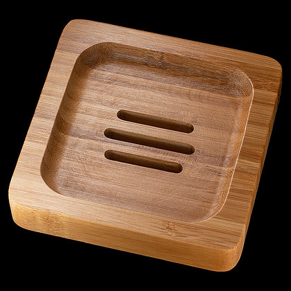 Seifenablage Bambus quadratisch