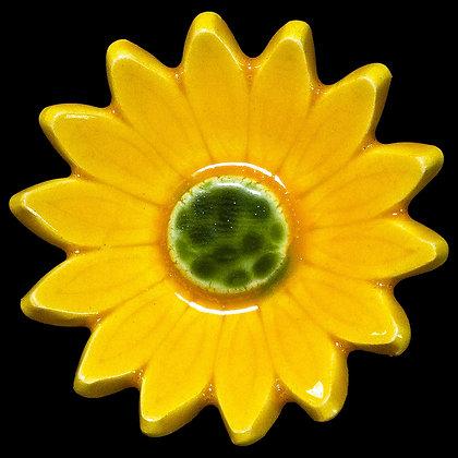 Ceramic Flower Yellow Marigold No.3
