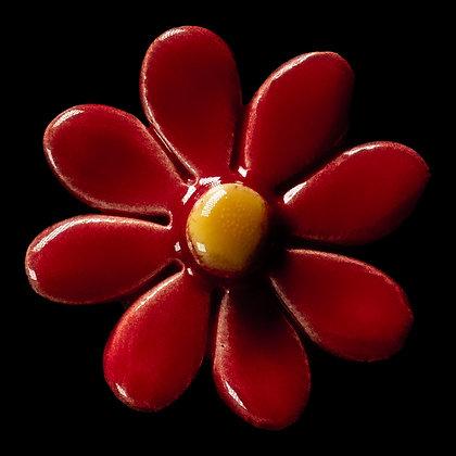Ceramic Flower Red Daisy No.2