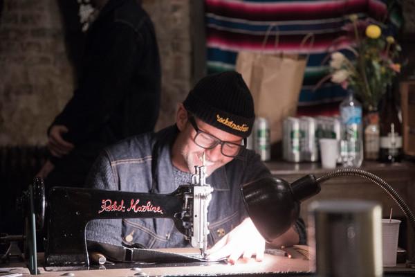 Rocketmachine chainstitch show vaterundsohn hamburg singer vintage embroidery