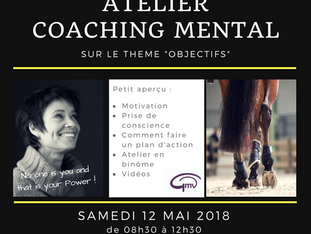 Atelier coaching mental - samedi 12 mai 2018