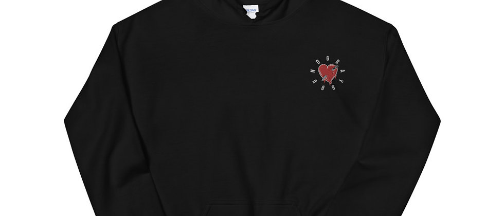 """""""Young and Heartless"""" Embroidered Hoodie"""