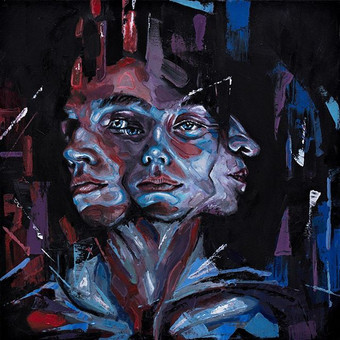 'States of Being'_40x40cm _Oil on canvas