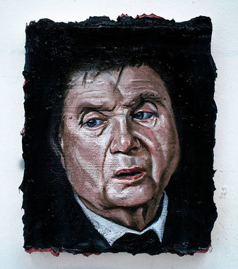 Study of Francis Bacon [Pre-defacement].