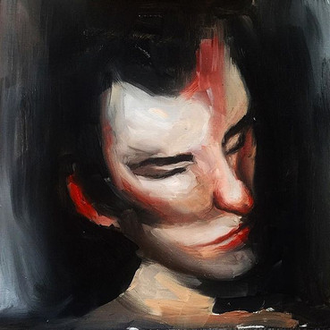 Self portrait study _Oil on board _30x30