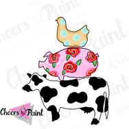 YR10 Cow Chicken Pig