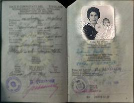 old italian passport on anu misa chldren's books web sit