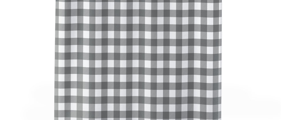 Gingham Black Shower Curtain by Charles Tybee
