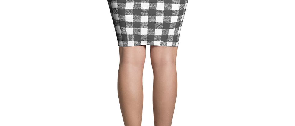 Remove from Wix Black Gingham Pencil Skirt