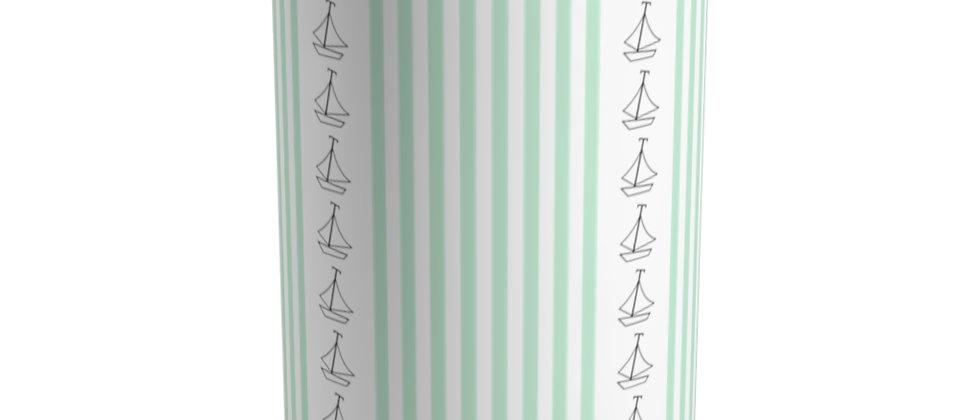 Simplistic Green Vertical Stripe Tumbler by Charles Tybee
