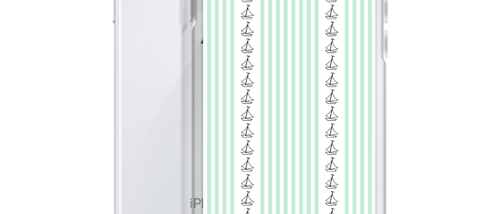 Green Vertical Sailboat iPhone Case