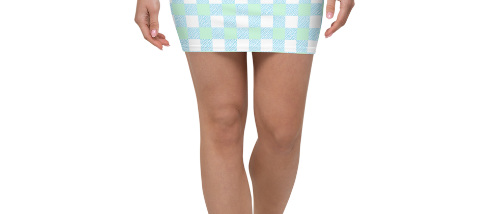 Blue Gingham Mini Skirt