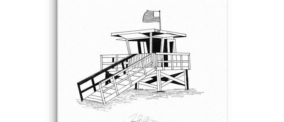 Lifeguard Stand Canvas