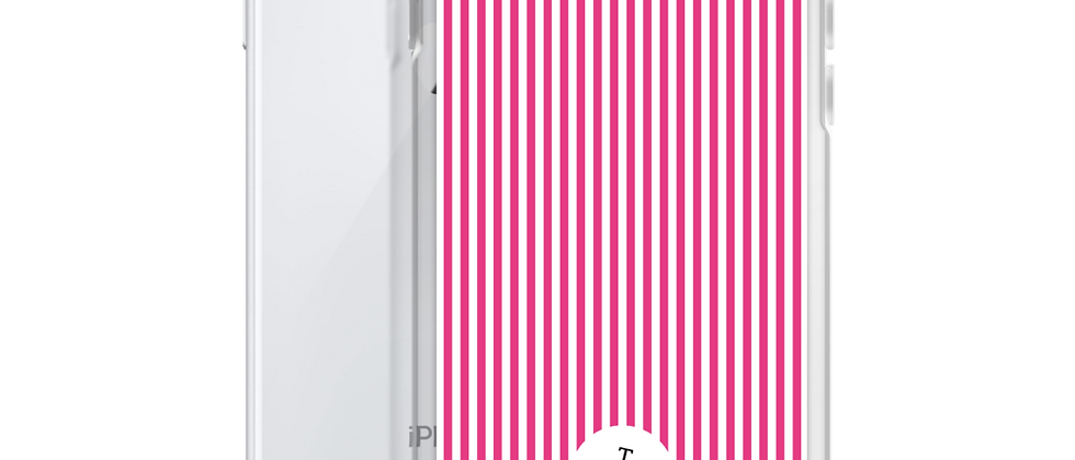 Pink Pinstripe iPhone Case