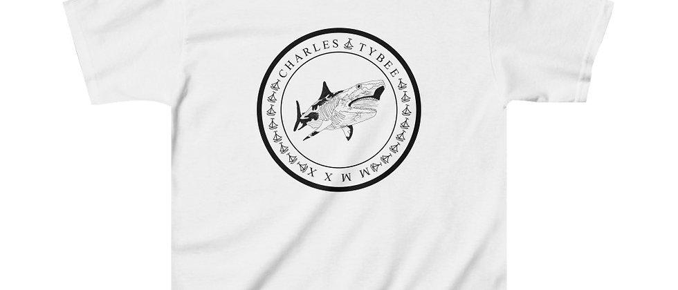 Classic Shark Kids Tee by Charles Tybee