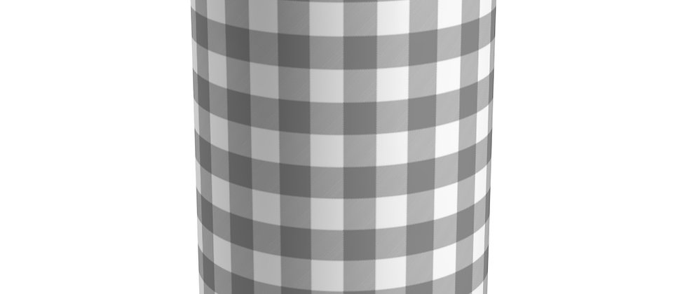 Gingham Black Tumbler by Charles Tybee