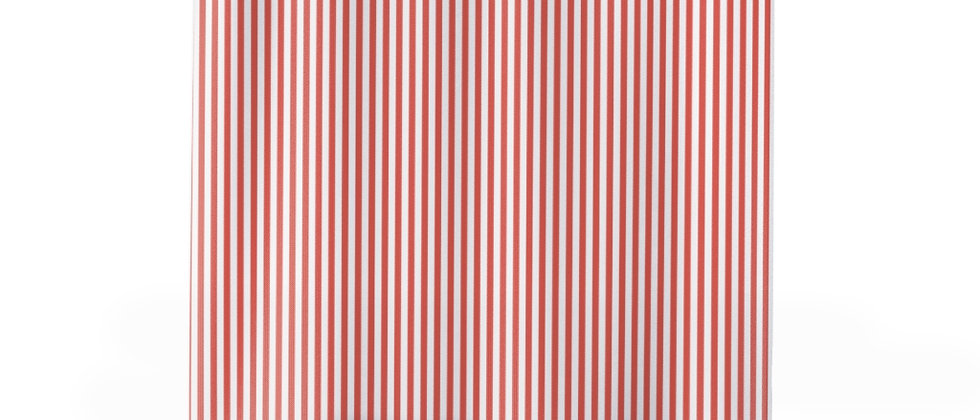 Coral Stripe Shower Curtain by Charles Tybee