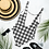 Thumbnail: Black Gingham One-Piece Swimsuit