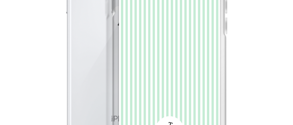 Green Pinstripe iPhone Case
