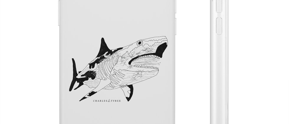 Shark Phone Case by Charles Tybee
