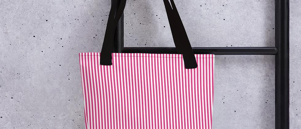 Pink Pinstripe Tote bag