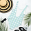 Thumbnail: Blue Gingham One-Piece Swimsuit