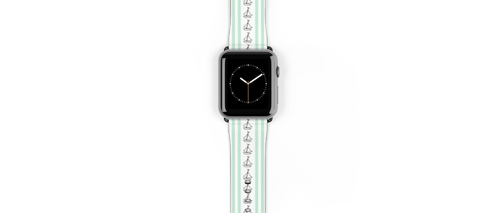 Simplistic Stripe Vertical Green Watch Band by Charles Tybee