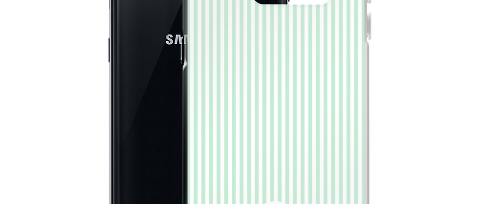 Green Pinstripe Samsung Case