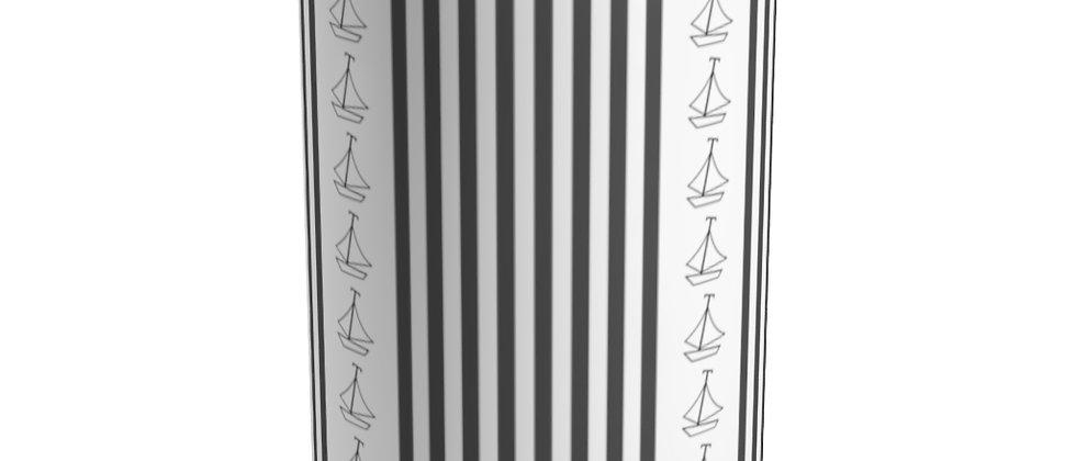 Simplistic Black Vertical Stripe Tumbler by Charles Tybee