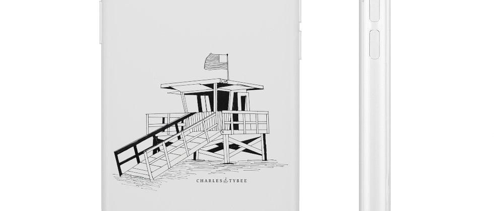 Lifeguard Stand Phone Case by Charles Tybee