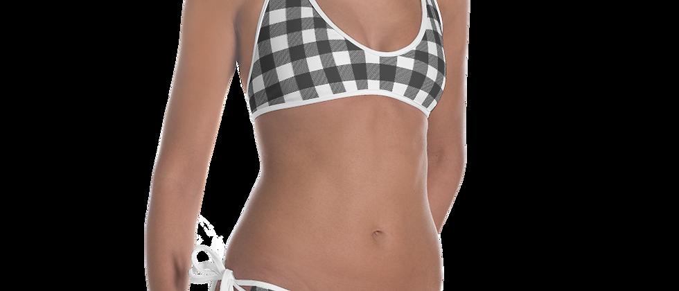 Black Gingham Bikini