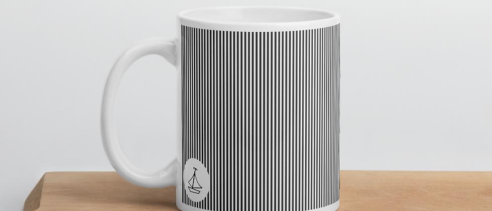 Black Pinstripe Mug