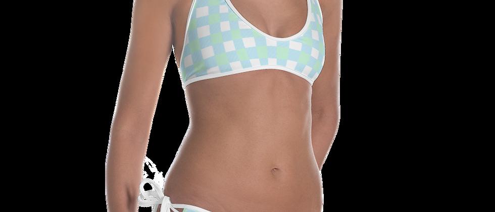 Blue Gingham Bikini