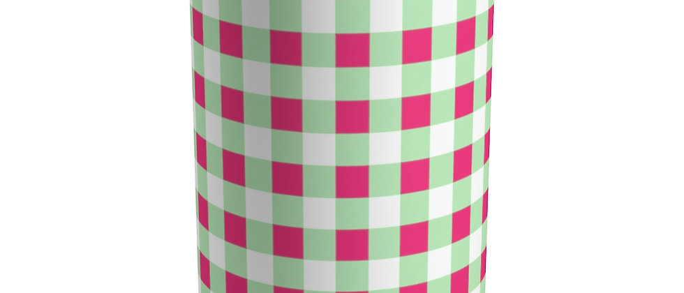 Gingham Lime Green Tumbler by Charles Tybee