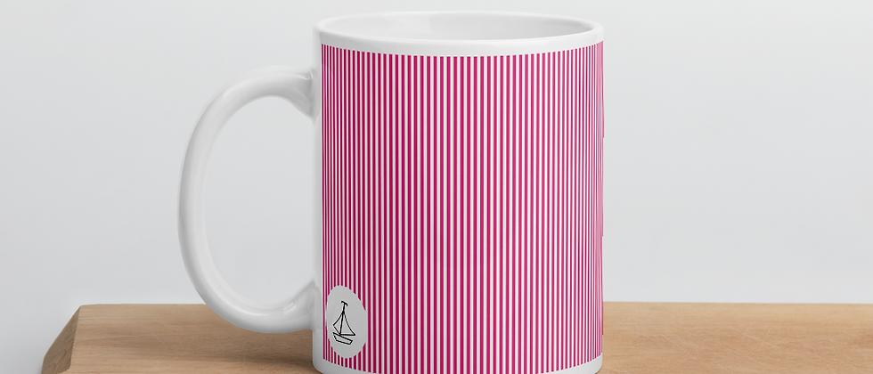 Pink Pinstripe Mug