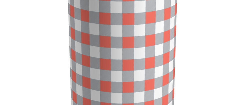Gingham Coral Tumbler by Charles Tybee
