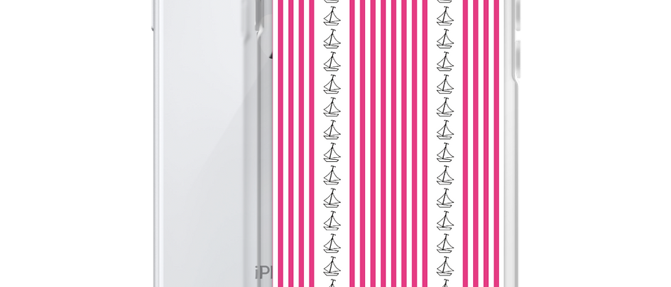 Pink Vertical Sailboat iPhone Case