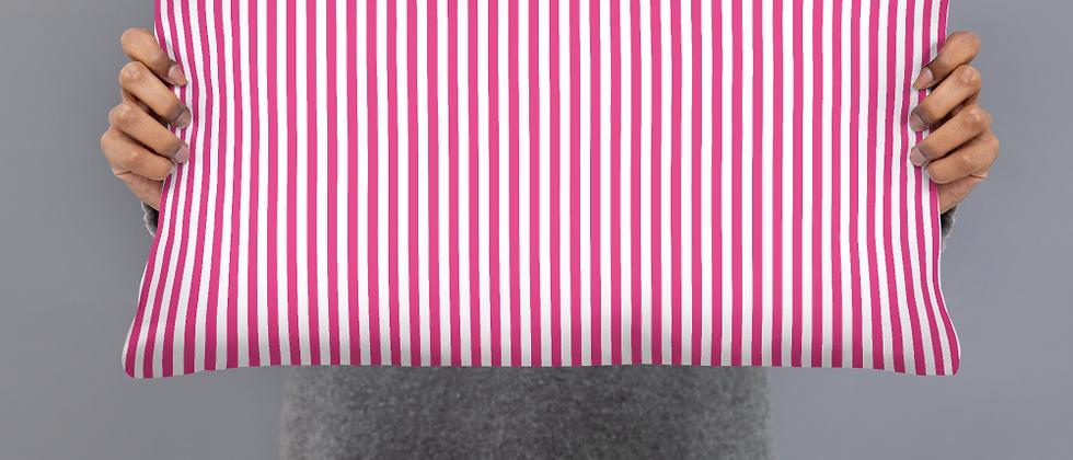 Pink Pinstripe Pillow