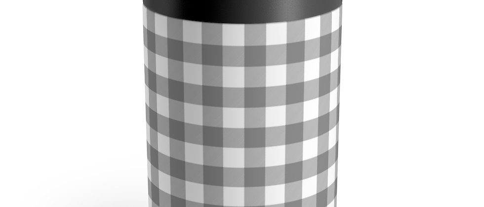 Gingham Black Can Holder by Charles Tybee