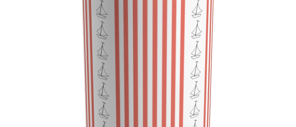 Simplistic Coral Vertical Stripe Tumbler by Charles Tybee