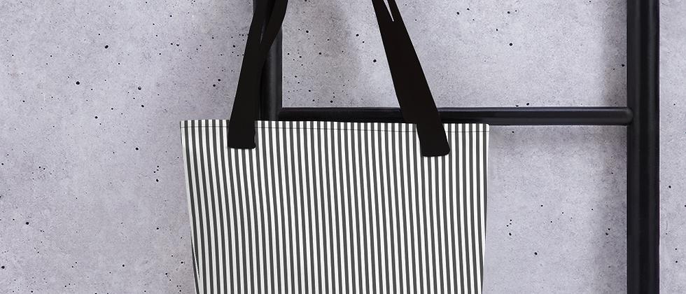 Black Pinstripe Tote bag