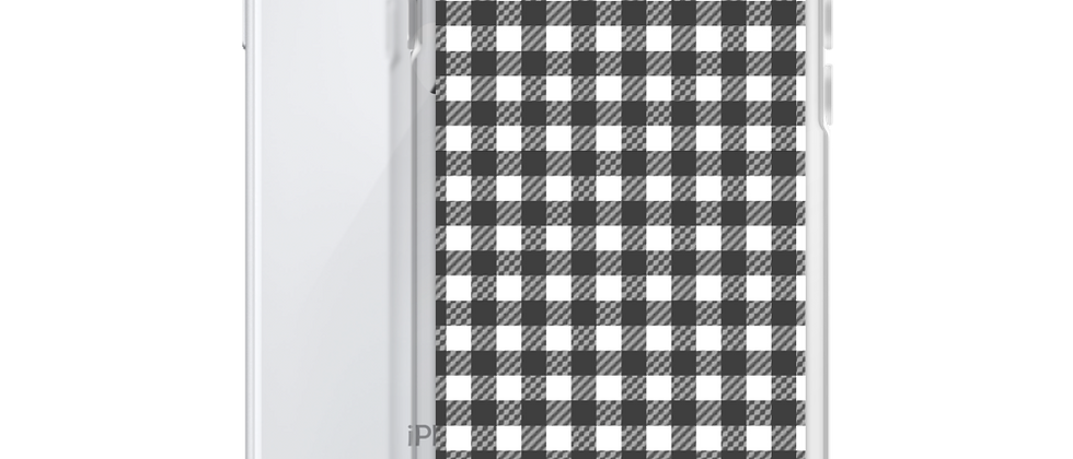 Black Gingham iPhone Case